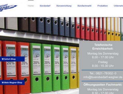 Redesign der Website von Bürobedarf Wagner