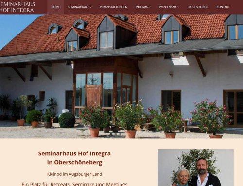 Neuer Internetauftritt für das Seminarhaus Hof Integra