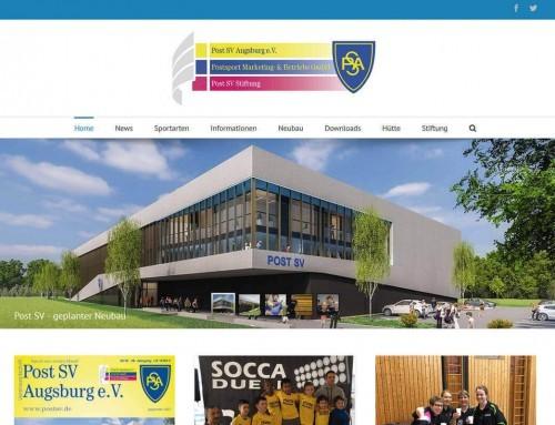 Neuer moderner Internetauftritt für Post SV Augsburg