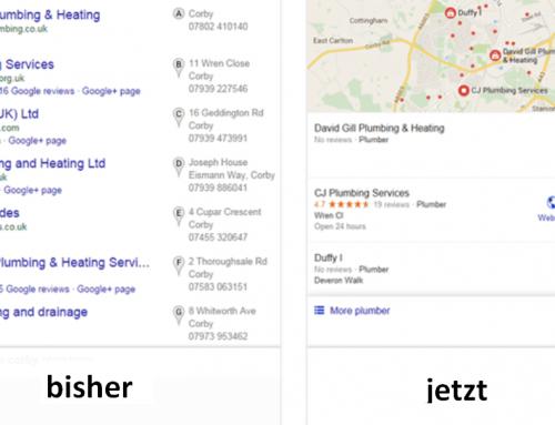 Änderungen bei der lokalen Suche mit Google (Local Search)