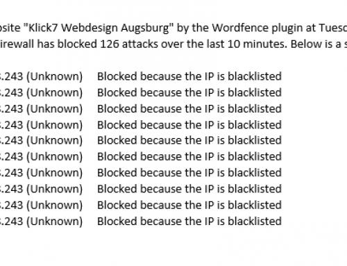 Sicherheit der Webseite