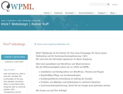 Mehrsprachigkeit mit WPML – offizieller Partner