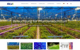 Neue Webseite erstellt für BLV Licht