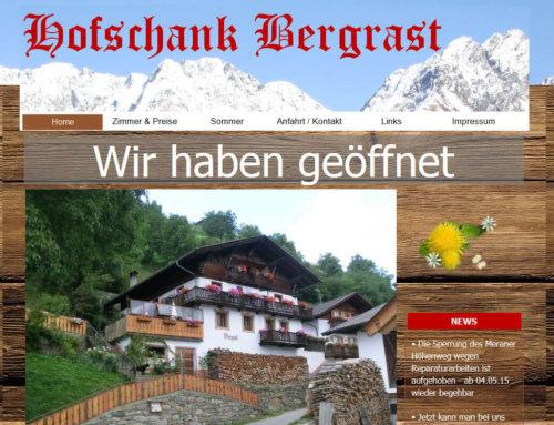 Site web pour la maison d'hôte Bergrast
