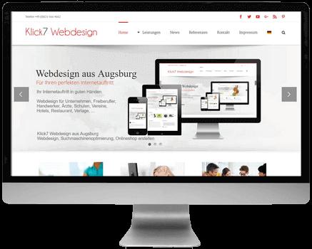 Computer Desktop Monitor Klick7 Webdesign