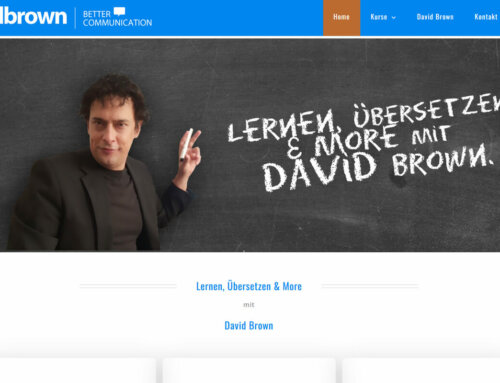 Webseite Englischtrainer
