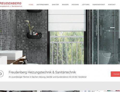 Freudenberg Haustechnik mit moderner Webseite in Responsive Design