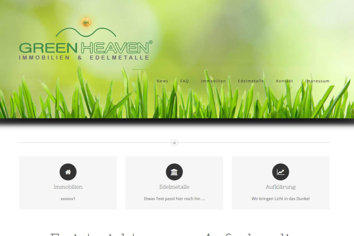 Webseite Immobilienmakler