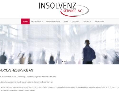 Neue Webseite / ReDesign für Insolvenzservice AG