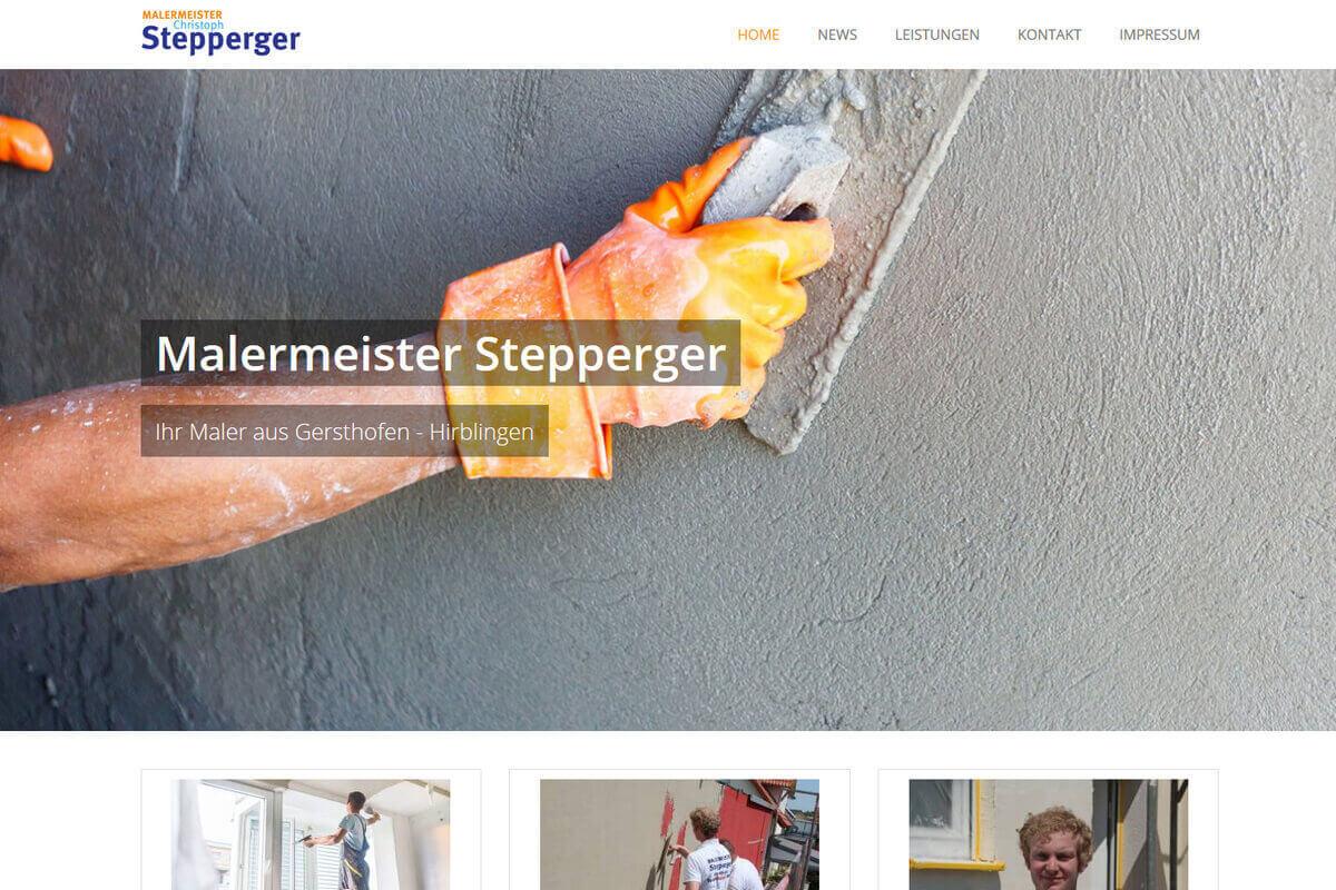 Homepage erstellen Maler Stepperger Gersthofen