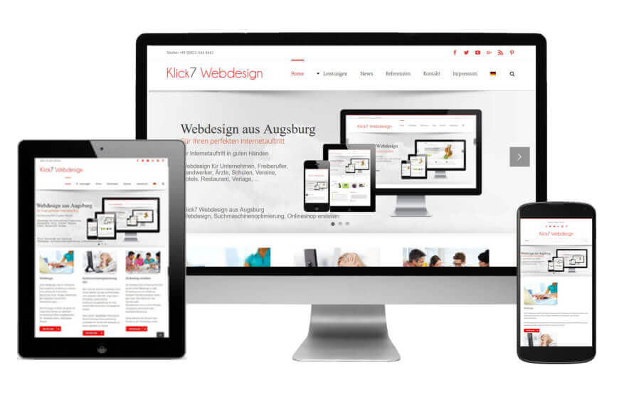 Responsive Design Augsburg perektes Design für Tablet Smartphone PC