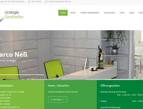 ReDesign von moderner Homepage für Arztpraxis