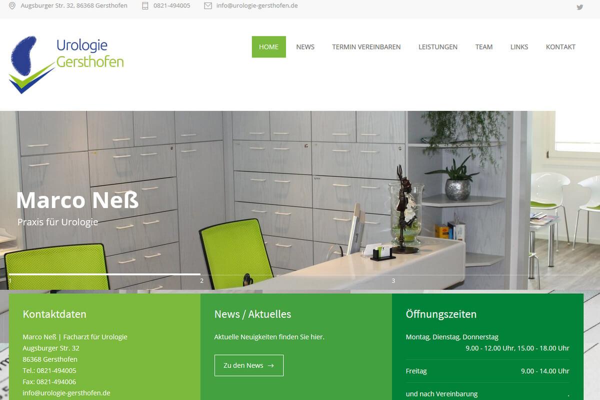 Neue Webseite Gersthofen Wordpress Augsburg