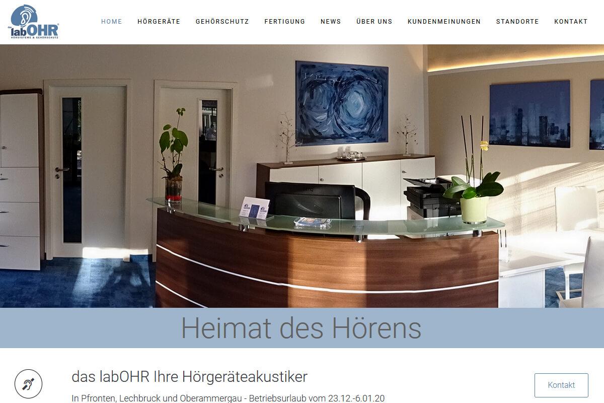 LabOhr Pfronten erstellt Wordpress Augsburg