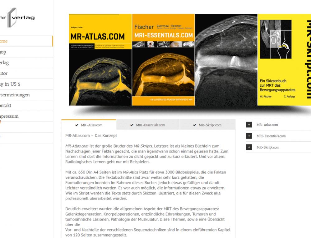 E-Commerce pour l'éditeur MR-Verlag (Allemagne)